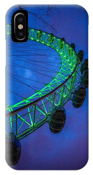St. Patricks Day iPhone Case - London Eye by Dawn OConnor