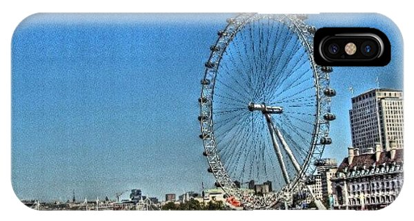 London iPhone Case - London Eye, #london #londoneye by Abdelrahman Alawwad
