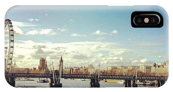 London Bridge iPhone Case - London In The Sun by Matt Rhodes