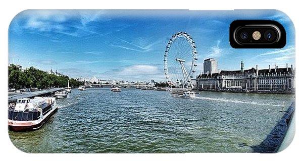 London Bridge iPhone Case - #london #instashoot #cloud #sky by Domenico Lamonaca