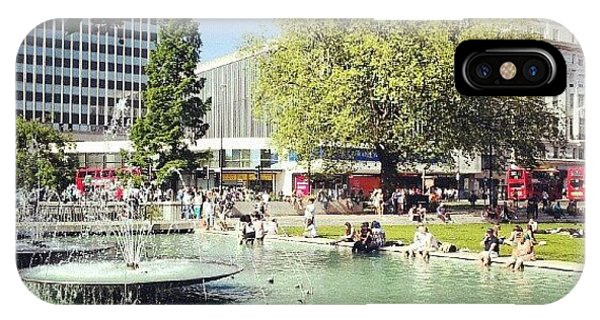 #london #water #summer #sun #hyepark IPhone Case