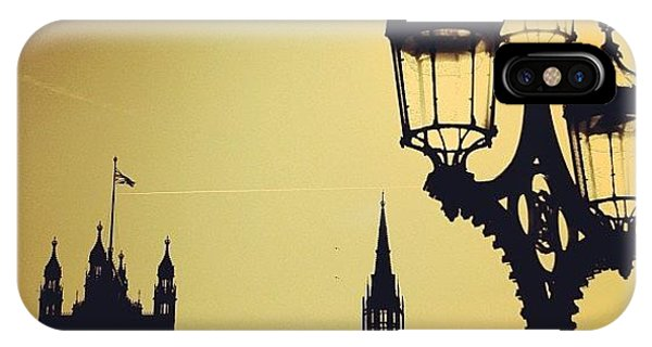 London iPhone Case - #london #westminster #londoneye #siluet by Ozan Goren