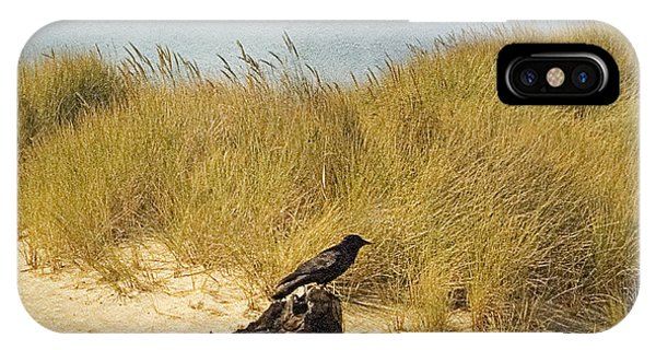 Oregon Sand Dunes iPhone Case - Lone Crow by Bonnie Bruno