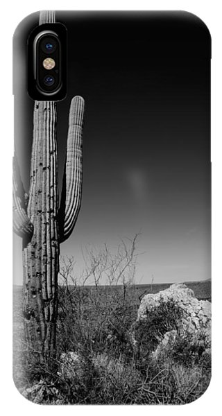 Hiking iPhone Case - Lone Saguaro by Chad Dutson