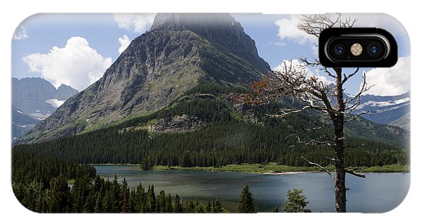 Lone Tree At Sinopah Mountain IPhone Case