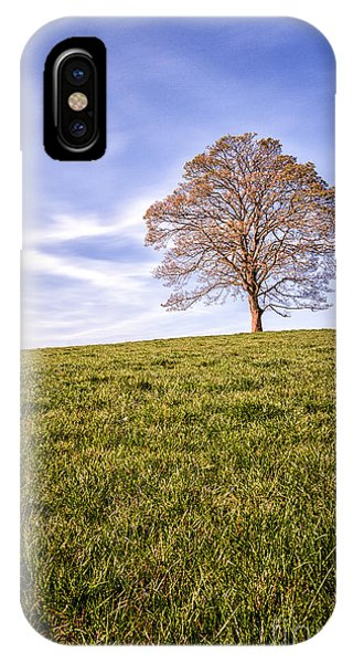 0 iPhone Case - Lone Tree On The Hill Colour by John Farnan