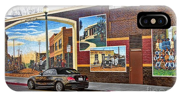 Old Town Santa Paula Mural IPhone Case