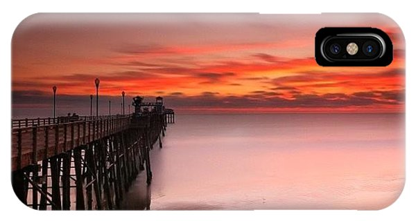 iPhone Case - Long Exposure Sunset At The Oceanside by Larry Marshall