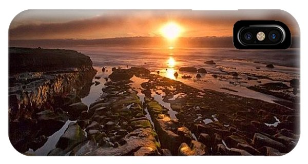 iPhone X Case - Long Exposure Sunset In La Jolla by Larry Marshall