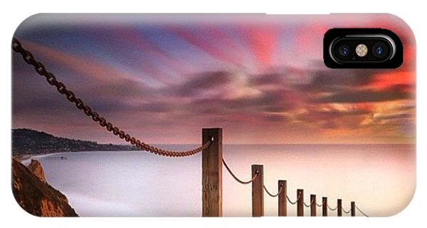 iPhone Case - Long Exposure Sunset Shot From The by Larry Marshall