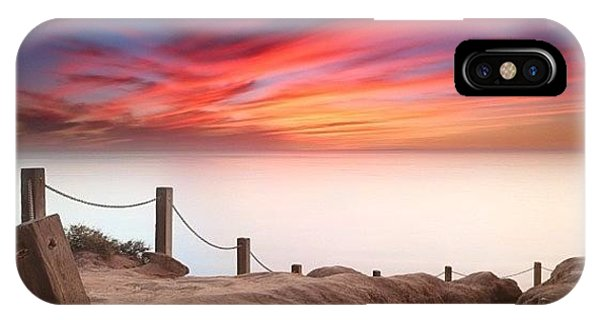 iPhone Case - Long Exposure Sunset Taken From The by Larry Marshall