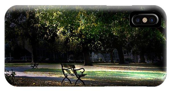 Lonley Park Bench IPhone Case