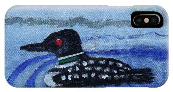 Loon On Lake Winnipeaukee IPhone Case
