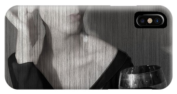 Romantic iPhone Case - Loren With Wine by Naxart Studio
