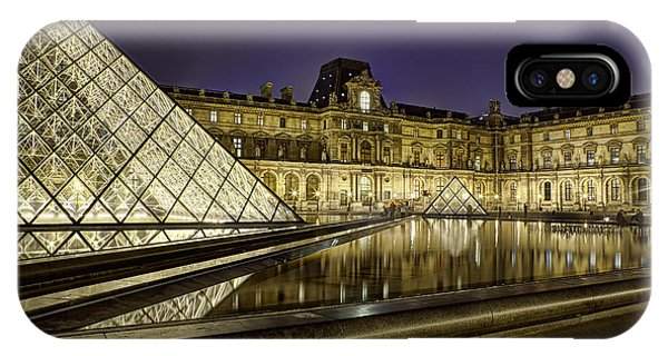 Louvre Courtyard By Night IPhone Case