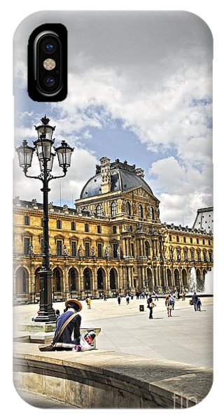 The Louvre iPhone Case - Louvre Museum by Elena Elisseeva