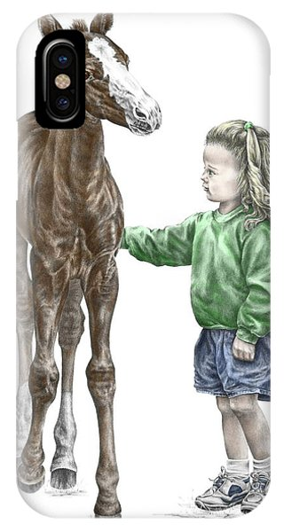 Love At First Sight - Girl And Horse Print Color Tinted IPhone Case