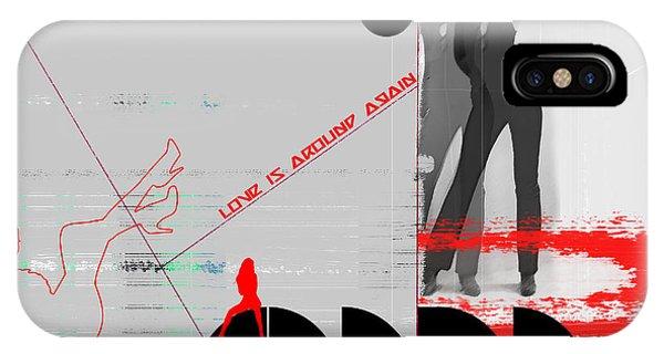 Dancing iPhone Case - Love Is Around Again by Naxart Studio