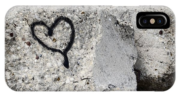 Cement iPhone Case - Love On The Rocks by Joan Carroll