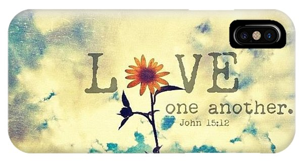 Inspirational iPhone Case - ...love One Another... John by Traci Beeson