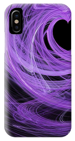Julia Fractal iPhone X Case - Love Swirls . A120423.689 by Wingsdomain Art and Photography