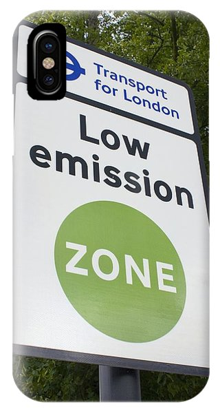 Low Emission Zone Sign In Essex, Uk. Phone Case by Mark Williamson