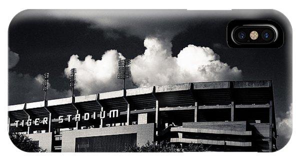 Lsu Tiger Stadium Black And White IPhone Case