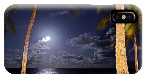 Maceio - Brazil - Ponta Verde Beach Under The Moonlit IPhone Case
