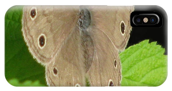 Macro Tan Butterfly Phone Case by Debra     Vatalaro