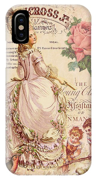 Fashion Plate iPhone Case - Mademoiselle Couture by Sarah Vernon