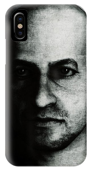 Male Portrait - Black And White IPhone Case