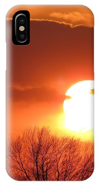 Mango Sunset Kansas Tree Silhouette IPhone Case