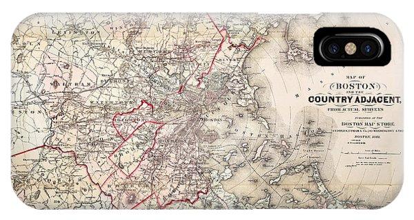 Roxbury iPhone Case - Map: Boston, 1883 by Granger
