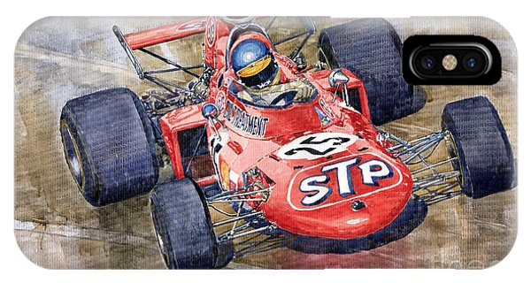 March iPhone Case - March 711 Ford Ronnie Peterson Gp Italia 1971 by Yuriy Shevchuk
