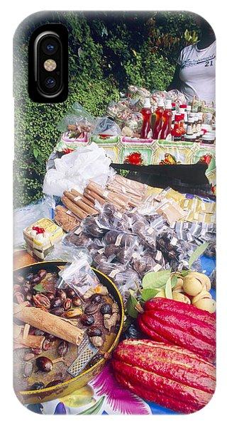 Market Stall, Grenada Phone Case by David Nunuk