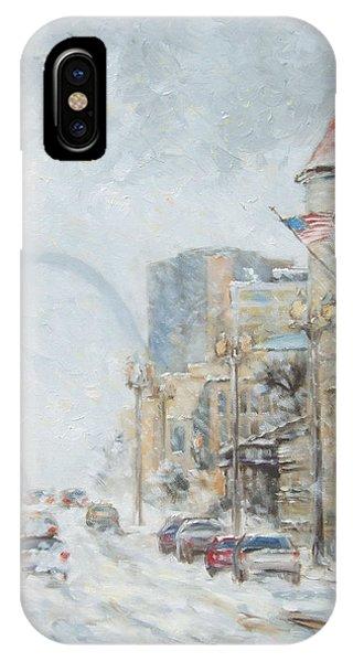 Market Street In Winter In St.louis IPhone Case