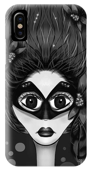 Masquerade Bw IPhone Case