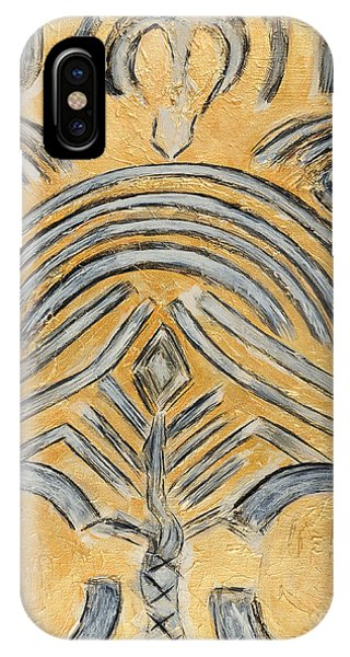 Gold Yellow Ethnic Modern Abstract Art For Contemporary Houses Phone Case by Marie Christine Belkadi