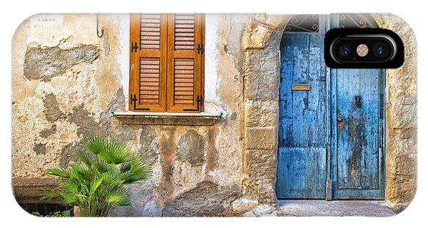 Mediterranean Door Window And Vase IPhone Case