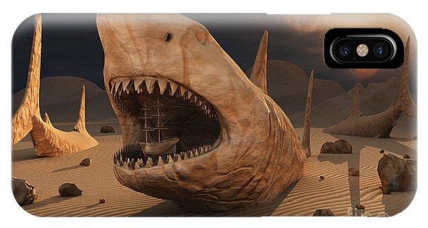 Schooner iPhone Case - Megalodon Desert by Mark Stevenson