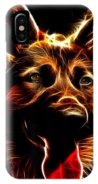 Mens Best Friend - German Shepherd Portrait IPhone Case