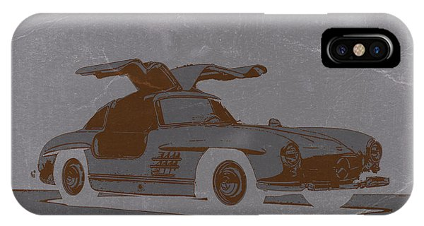 American Cars iPhone Case - Mercedes Benz 300 by Naxart Studio