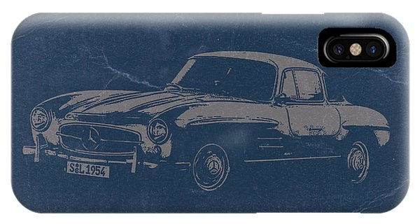 American Cars iPhone Case - Mercedes Benz 300 Sl by Naxart Studio