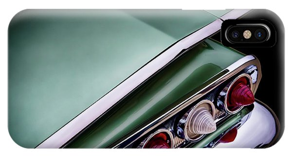 Chevrolet iPhone Case - Metalic Green Impala Wing Vingage 1960 by Douglas Pittman