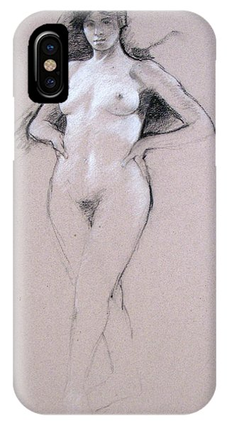 IPhone Case featuring the drawing Mid Tones by Cliff Spohn