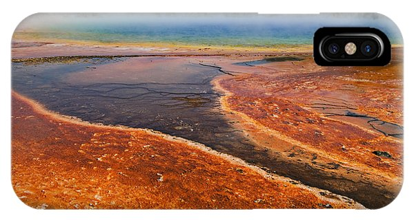 Yellowstone National Park iPhone Case - Middle Hot Springs Yellowstone by Garry Gay