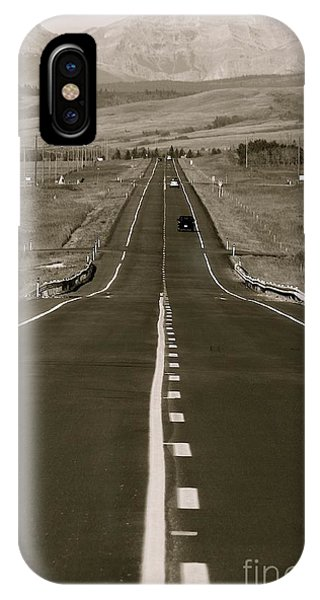 Middle Of The Road Phone Case by David  Hubbs
