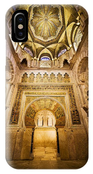 Mihrab And Ceiling Of Mezquita In Cordoba IPhone Case