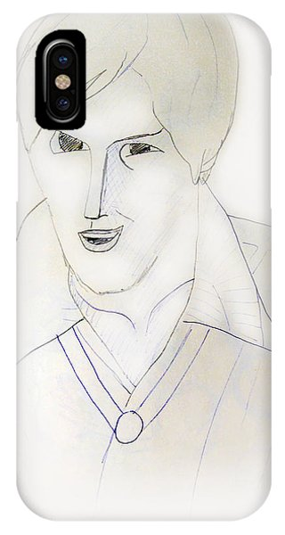 Minimalism - Young Man IPhone Case