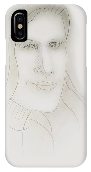 Minimalism - Young Woman IPhone Case